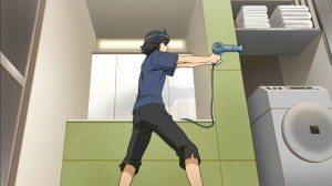 Daichi point an hairdryer like a gun
