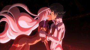 EvilHana kissed by Daichi