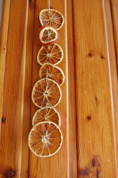 Orange slice garland