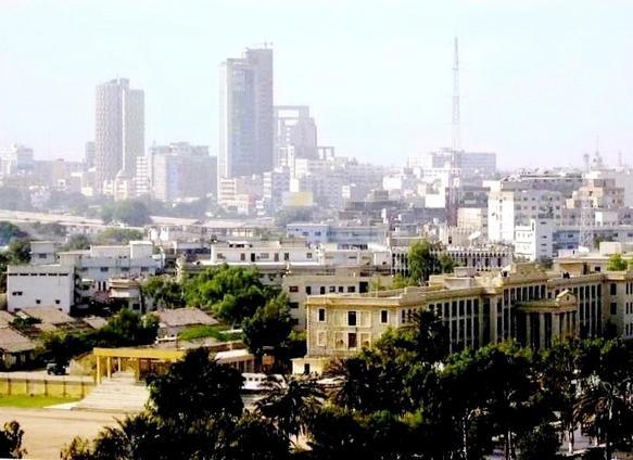 Downtown Karachi -- image courtesy of Wikipedia.
