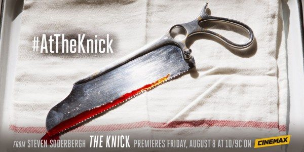 Promo art for The Knick, featuring a bloody surgical saw