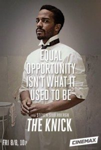 Promo art for The Knick, featuring Andre Holland as Dr. Algernon Edwards