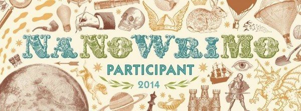 """A graphic stating """"NaNoWriMo Participant 2014"""""""