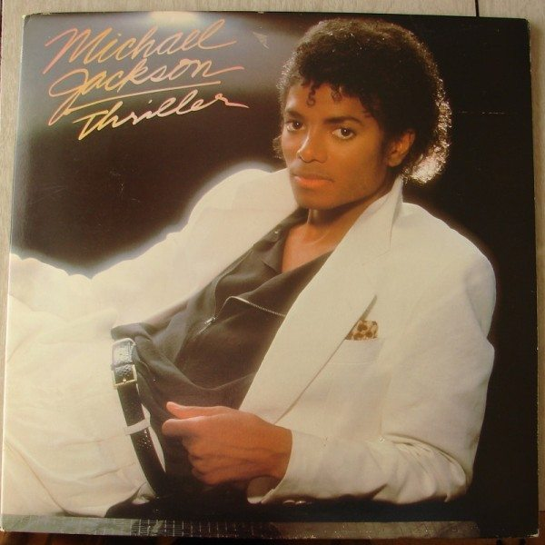 "The front cover of Michael Jackson's ""Thriller."""