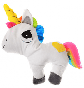 Microwavable unicorn plushie.
