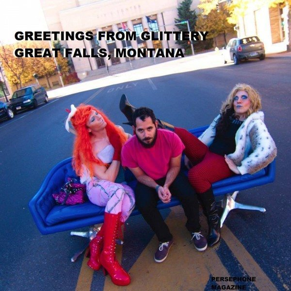 Kola Stomey, Saif Alsaegh, and Lexi Tucker-Dixon in Great Falls, MT (photo by Tyson Habein)