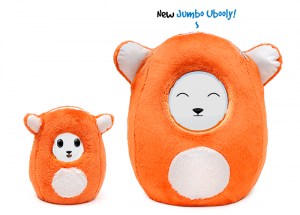 A picture of an orange plush toy known as an Ubooly