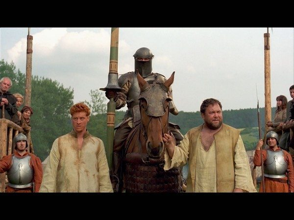 Alan Tudyk, Heath Ledger and Mark Addy in A Knight's Tale.