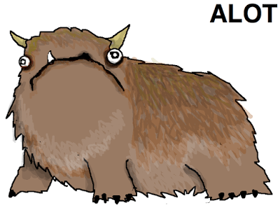 The Alot, a cartoon figure that looks like  a cross between a bear, a yak and a pug.