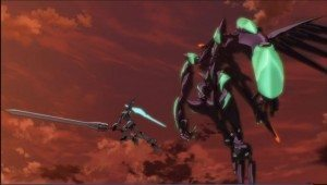 "An image of Sein and Nitch from ""Fafner Exodus ep 7"""