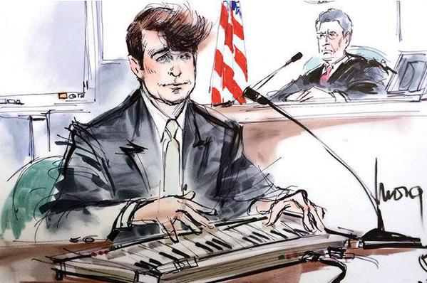 Robin Thicke courtroom drawing