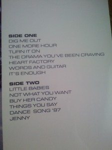 Dig Me Out Track List