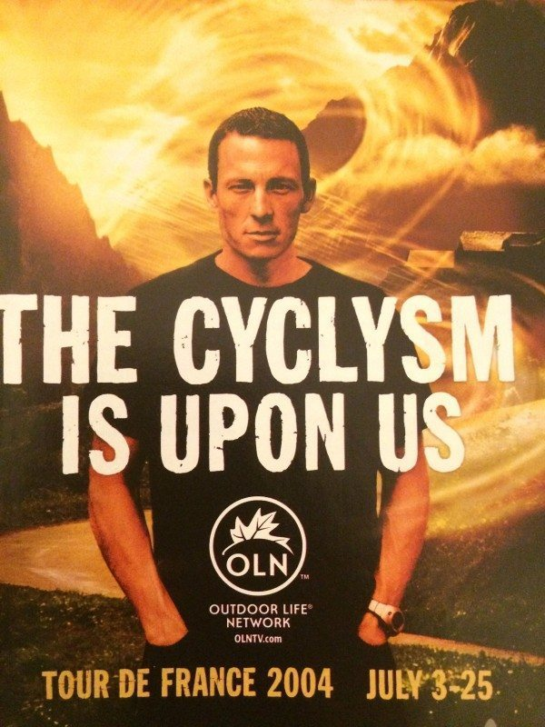 An ad featuring Lance Armstrong