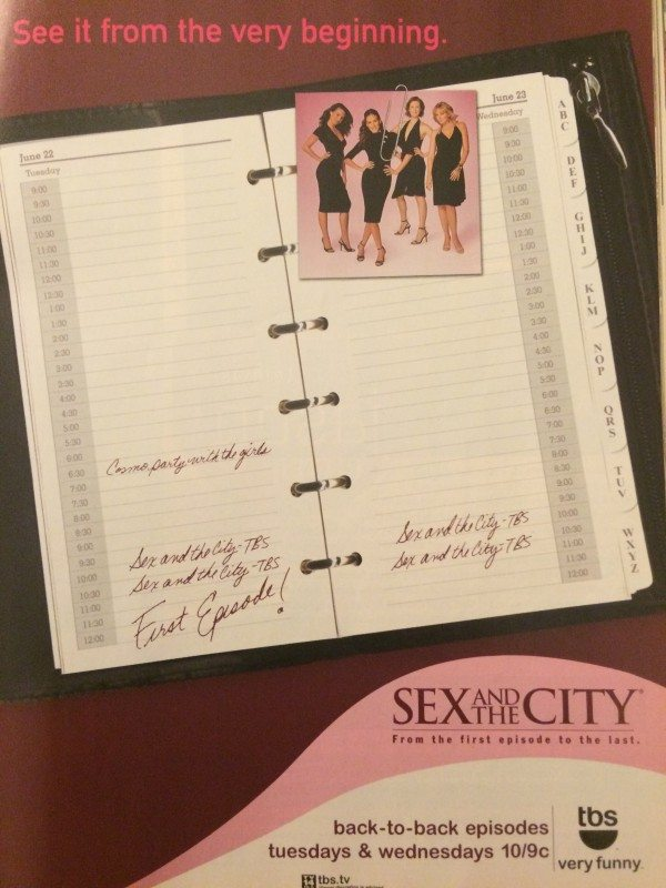 An ad for Sex and the City coming to syndication.