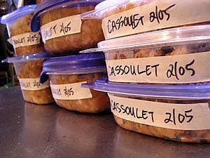 Photo of leftovers in storage containers