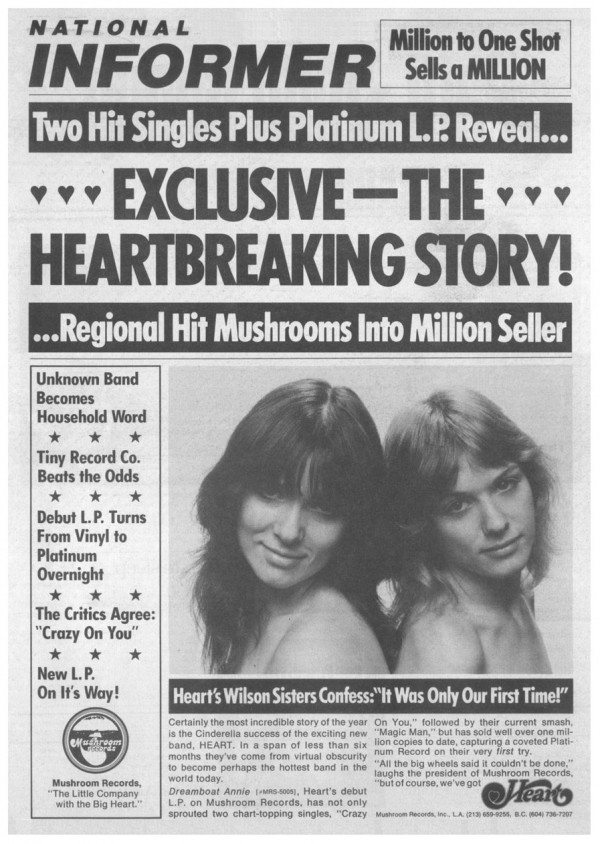 Heart Rolling Stone ad