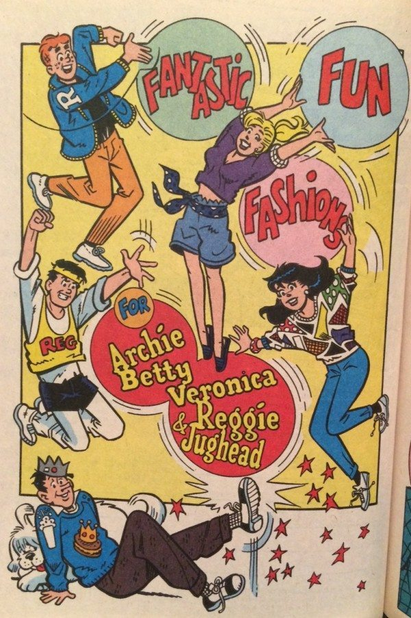 A picture of a page from Archie comics.