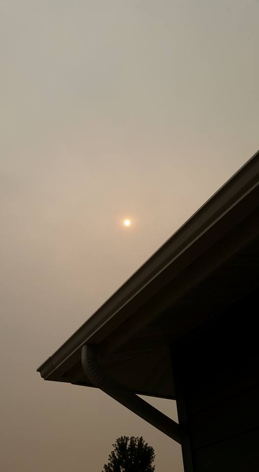 Hazy, smoky sky in Montana