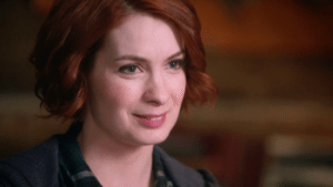 A picture of Charlie Bradbury from Supernatural.