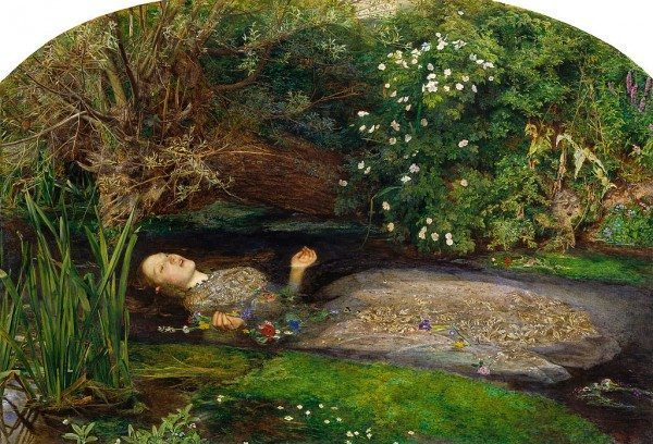 Ophelia, by John Everett Millais, with Siddal as model.