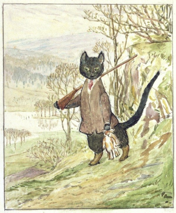 Kitty in Boots illustration by Beatrix Potter